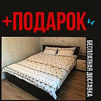 Постельное белье бязь постельный комплект Евро двуспальное постельное белье