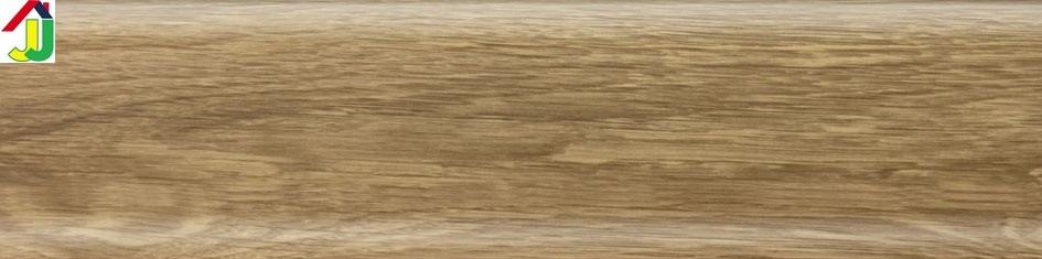 Плинтус пластиковый Lima 69 Дуб Бурбон Натуральный, плинтус с мягким краем, плинтус напольный с кабель-каналом