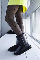 Женская зимняя обувь УГГи черного цвета. Высокие комфортные угги UGG Black для девушек
