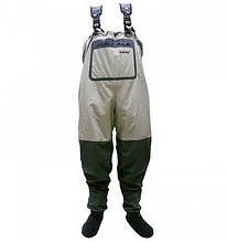 Забродние штани-вейдерсы Tramp Angler TRFB-004 (р. M), оливкові