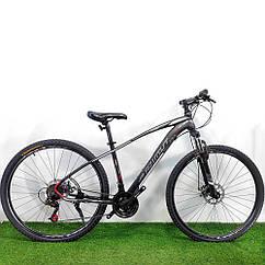 """Горный велосипед 29"""" Azimut Nevada D черно-белый"""