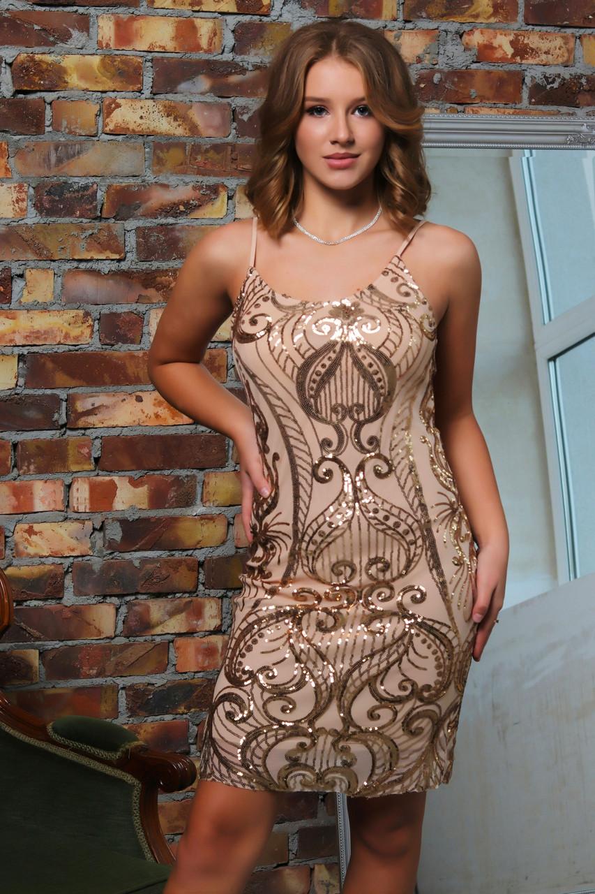 Женское платье-сарафан влю711