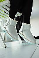 Женская зимняя обувь УГГи белые блестящие. Стильные комфортные угги UGG White для девушек