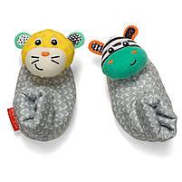 Шкарпетки брязкальця Infantino зебра і тигр (206893I), фото 2