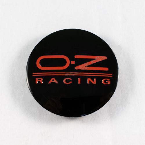 Ковпачок для диска OZ M595 чорний / червоний лого (63 мм)