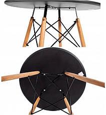Столик Bonro В-957-600 + 4 чорних крісла B-173 (41300041), фото 3
