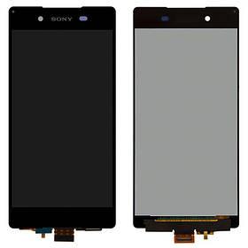 Дисплей (экран) для Sony E6533 Xperia Z3 + Dual з сенсором (тачскріном) черный