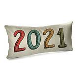 Подушка для дивана бархатная 2021 year 50x24 см (52BP_21NG012), фото 2