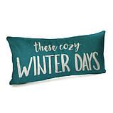 Подушка для дивана бархатная These cozy winter days 50x24 см (52BP_21NG003), фото 2
