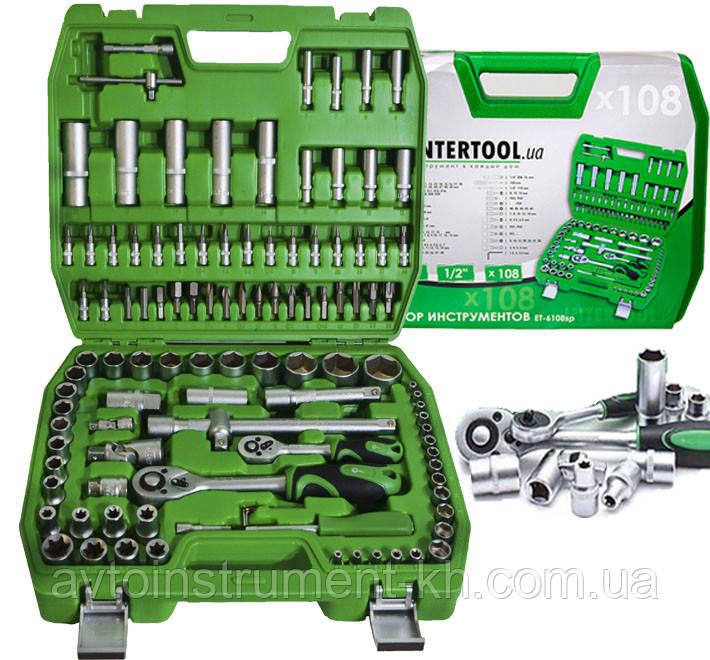 Набор инструментов 108 ед. INTERTOOL ET-6108SP
