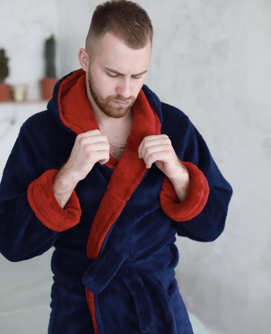 Халат для мужчин с тёплой махры
