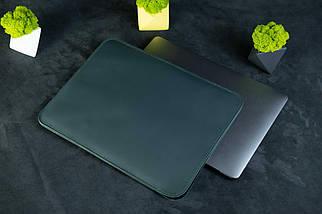 Чохол для MacBook з повстю, Шкіра Grand, колір Зелений, фото 3
