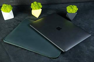 Чохол для MacBook з повстю, Шкіра Grand, колір Зелений, фото 2