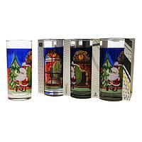 Набор стаканов Uniglass Classico Christmas Santa мл 6 шт. высокие