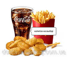 Чикеннагетс меню 9кус. картофельные дипы