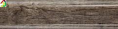 Плінтус пластиковий Lima 10 Баннертон Темний (Bannerton dark), плінтус з м'яким краєм,плінтус з кабель-каналом