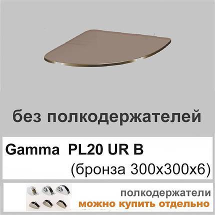 Угловая стеклянная полка PL20 URB(300x300), фото 2