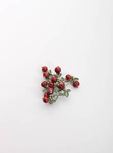 Брошка FAMO Брошь Одит зеленая+красная Длина 4.5(см)/ Ширина 5,5(см) (X7-20) #L/A