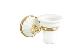 Стакан для зубных щеток ALL MARGHERITA золото-белый ORBI MG109