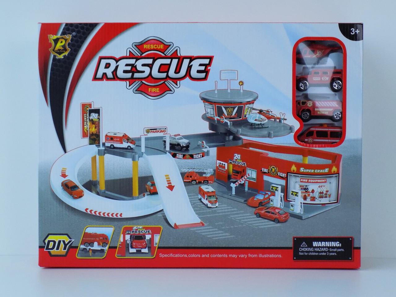Детский гараж пожарники