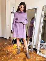 Женское вязанное платье-туника Oversize, фото 1
