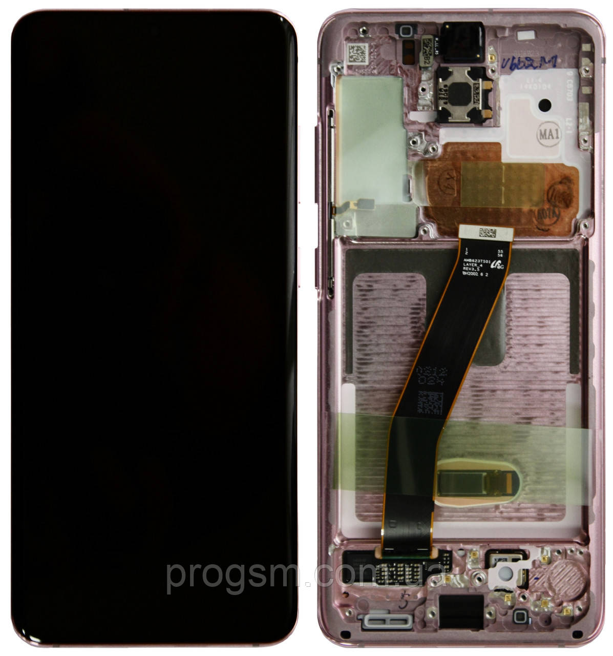 Дисплей Samsung Galaxy S20 SM-G980 Original 100% (Service Pack) with frame Pink Cloud