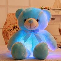 Светящийся Голубой Медвежонок 50 см