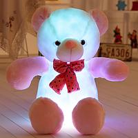 Светящийся Бело-Розовый Медвежонок 50 см