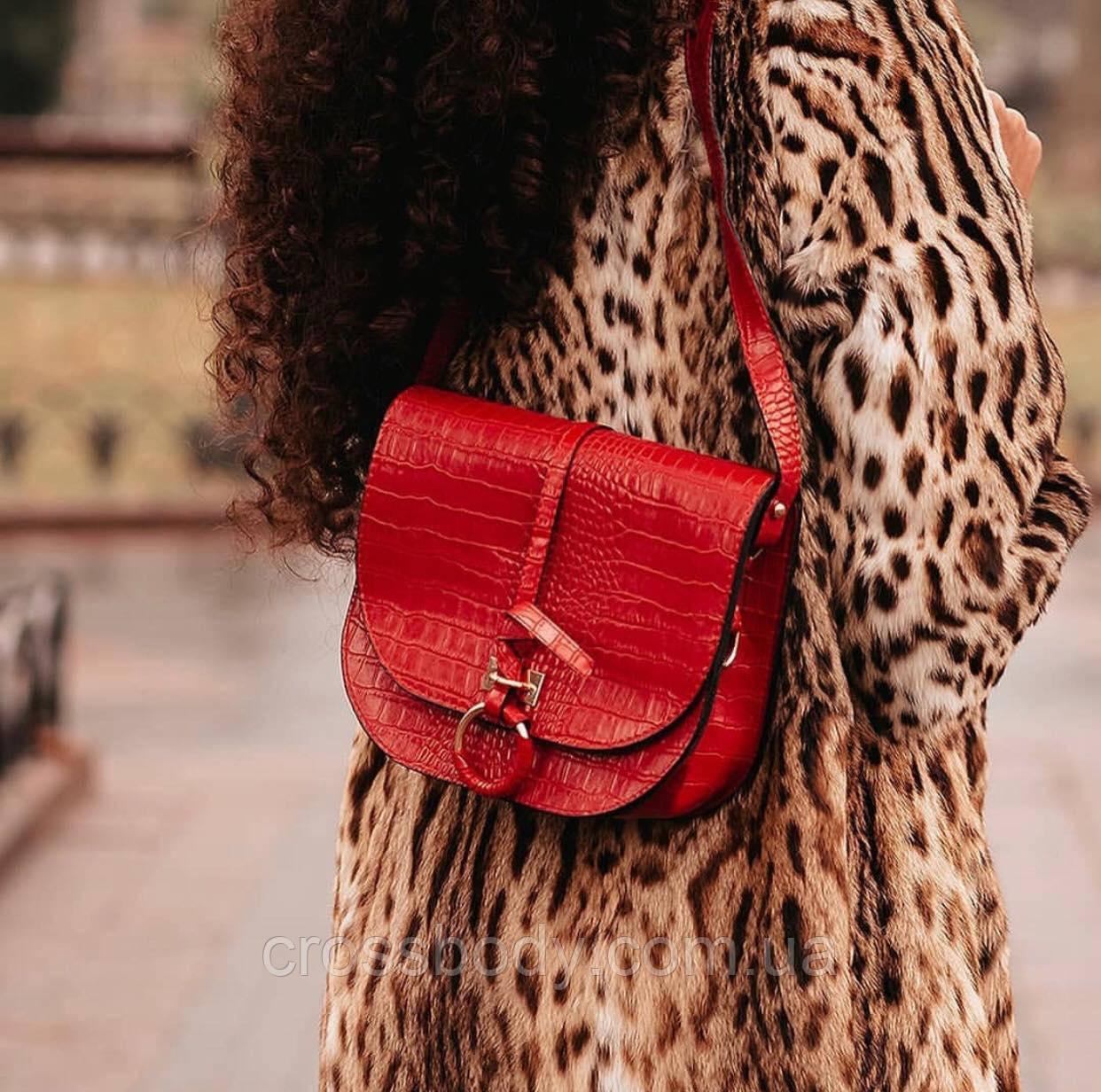 Женская сумка клатч черный и красный
