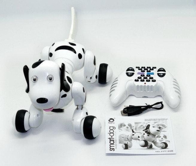 Собачка робот игрушка на р/у Happy Smart Dog Интерактивная  18 функций свет звук