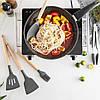 Кухонный набор из 12 предметов Kitchen Art серый с бамбуковой ручкой VIP - Фото