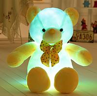 Светящийся Бело-Желтый Медвежонок 50 см