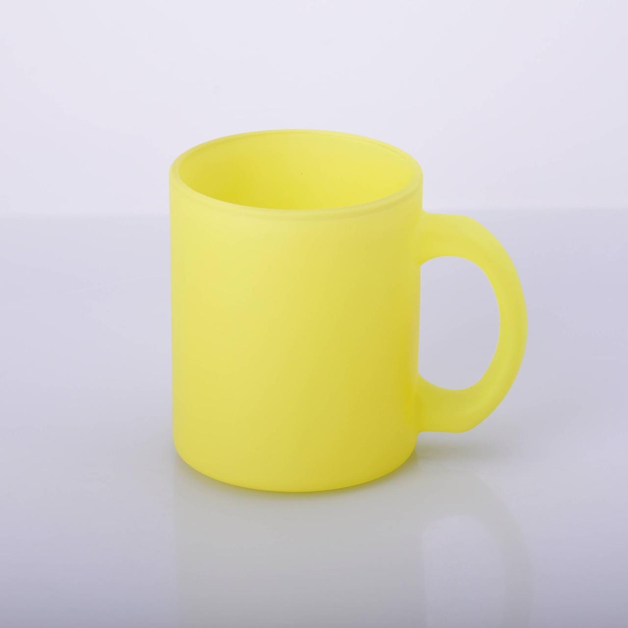 Чашка для сублимации стекло 330 мл флуоресцентная (жёлтый)