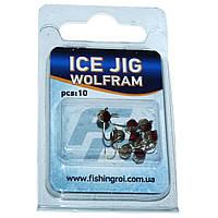 Мормышка вольфрамовая Кристалл с камнем Fishing ROI Ice Jig 0.44 г., 2.5 мм.