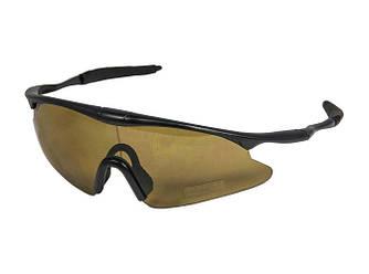 Очки спортивные велосипедные коричневая линза
