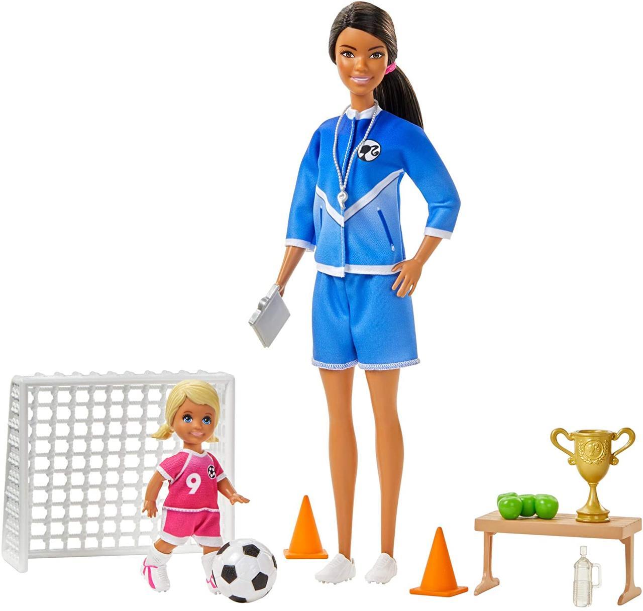 Игровой набор Барби тренер по футболу