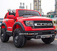 Детский электромобиль T-7819 EVA RED Ford, мягкие колеса, красный