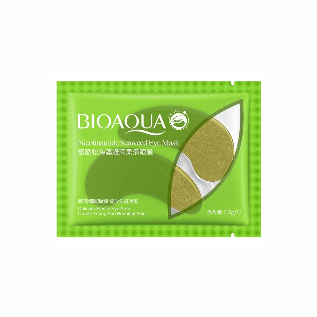 Одноразові гідрогелеві патчі для очей з екстрактом водорослів Bioaqua Nicotinamide Seaweed Eye Mask