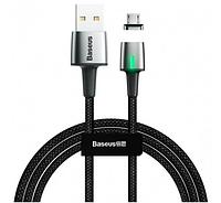Кабель Baseus Zinc Magnetic Cable microUSB USB 2.4A 1m Black