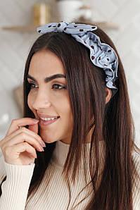Повязка на голову - тюрбан FAMO Повязка на голову Карен голубая One size (P-2002) #L/A
