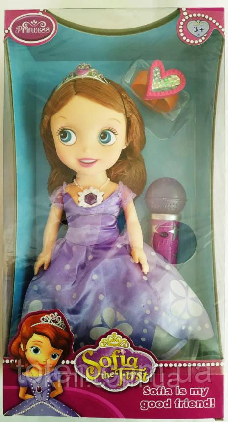 Лялька 30 см співоча Принцеса Софія з мікрофоном ZT8784 Т