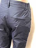 Мужские теплые горнолыжные,   штаны  Темно-синие, фото 5