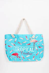 Пляжна сумка FAMO пляжна Сумка Шаван бірюзова Довжина 57.0(см)/ Висота 40.0(см)/ Ширина 14.5(см) (SYM-2019)