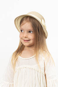 Дитячий капелюх FAMO Капелюх дитяча Кимби бежева 48 (SHLD-2006) #L/A