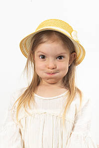 Дитячий капелюх FAMO Капелюх дитяча Кимби жовта 48 (SHLD-2006) #L/A