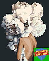 Картина по номерам Женственные пионы Эми Джадд +Лак 40*50см Барви Девушка с пионами