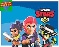 Картина по номерам Бравл Старс Brawl Stars Команда +ЛАК 40*50см Барви Раскраска по цифрам Для начинающих