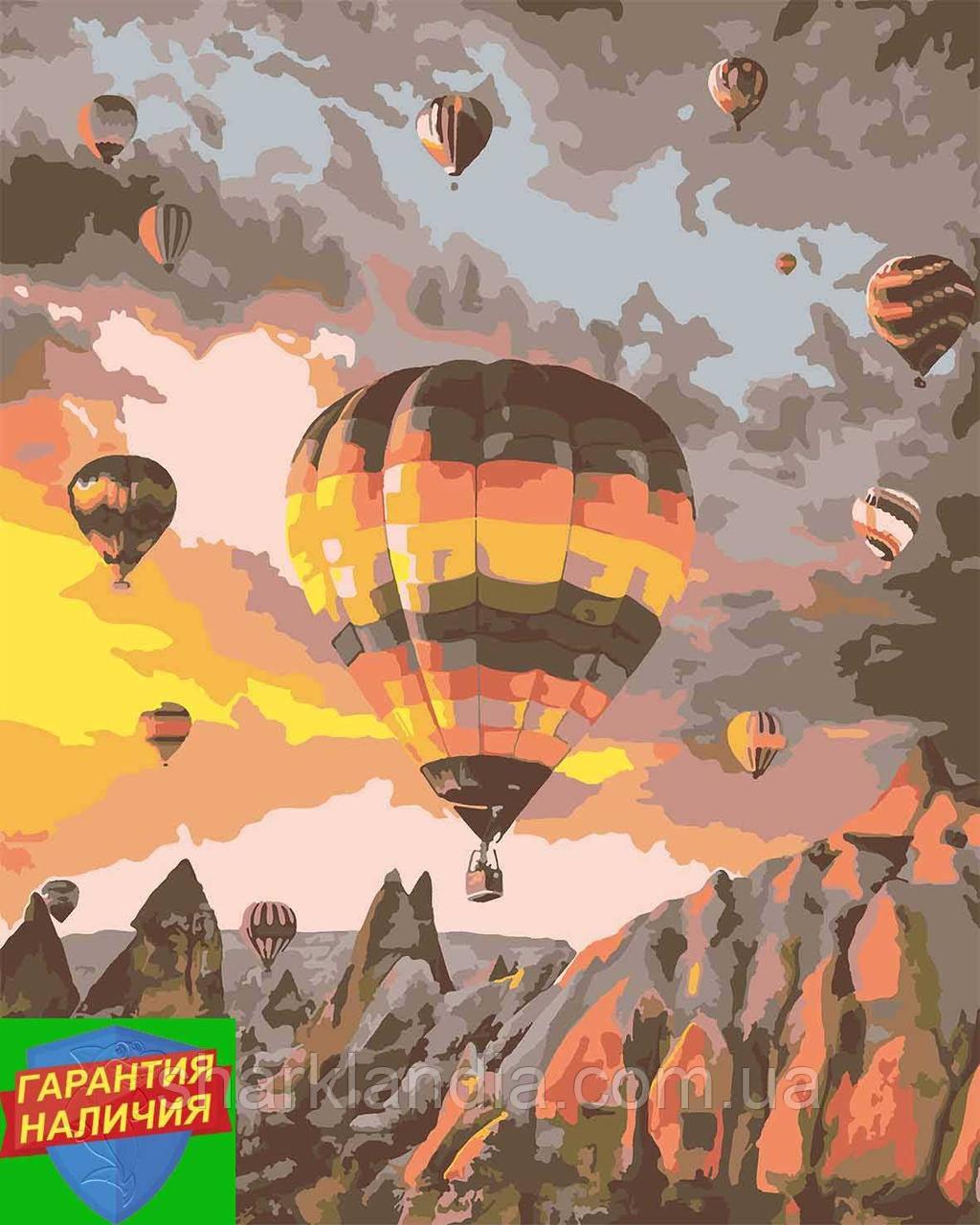 Картина за номерами Каппадокія +ЛАК 40*50см Барви Повітряні кулі
