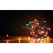 Гирлянда светодиодная зерно 300 LED 21 м микс