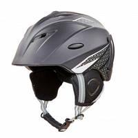 Горнолыжный шлем для сноуборда взрослый MOON С механизмом регулировки Черный (MS-6287) M